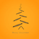 Simple christmas card Stock Image