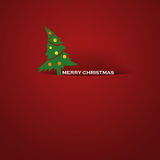 Simple Christmas card royalty free stock photos