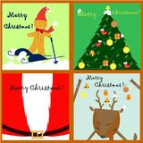 Simple Christmas card collection Stock Images