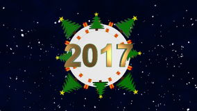 Simple Christmas Card. Loop animation stock video