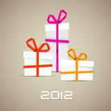 Simple  christmas gifts made from paper stripes Stock Images