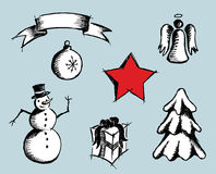 Simple Christmas icons. Stock Photography