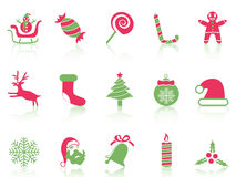 Simple Christmas icons set Royalty Free Stock Images