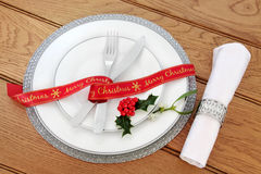 Simple Christmas Place Setting Stock Image