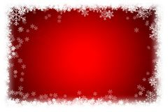 Simple Christmas red background with snowflake. Royalty Free Stock Images