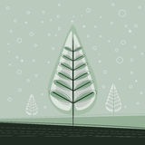 Simple Christmas Tree Royalty Free Stock Photos
