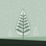 Simple Christmas Tree Royalty Free Stock Photos