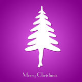 Simple christmas tree concept Stock Photo