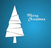 Simple  christmas tree illustration Stock Images