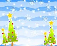 Simple Christmas Tree Scene Royalty Free Stock Photography