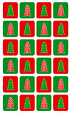 Simple Christmas tree seamless pattern Royalty Free Stock Photo