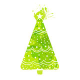 Simple Christmas tree vector illustration Stock Photography