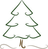 Simple (christmas) tree in winter Stock Photography