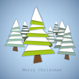 Simple  christmas trees Stock Photos