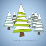 Simple christmas trees stock illustration