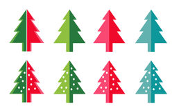 simple Christmas trees symbol for new year greeting card presentation. Royalty Free Stock Photo