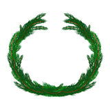 Simple Christmas wreath  on white Stock Images