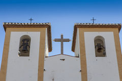 Simple church towers Royalty Free Stock Photography