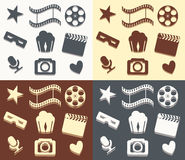 Simple cinema patterns Stock Images