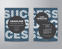 Simple circle brochure flyer design layout template in A4 size, Stock Image