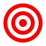 Simple circle target template. Bullseye symbol