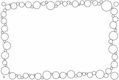 Simple circles photo frame. Easy to insert photo using magic wizard royalty free illustration