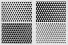 Simple circular background. Fish scale pattern, Simple circular background - black and white set - vector circle pattern Stock Image