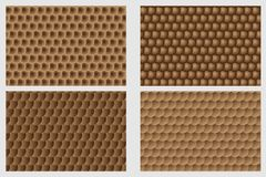 Simple circular background. Fish scale pattern, Simple circular background - brown set - vector circle pattern Royalty Free Stock Photography