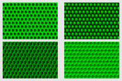 Simple circular background. Fish scale pattern, Simple circular background - green set - vector circle pattern Stock Photos