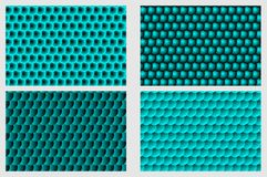 Simple circular background. Fish scale pattern, Simple circular background - blue set - vector circle pattern Royalty Free Stock Image