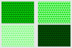 Simple circular background. Fish scale pattern, Simple circular background - green set - vector circle pattern Royalty Free Stock Photo