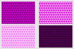 Simple circular background. Fish scale pattern, Simple circular background - purple set - vector circle pattern Royalty Free Stock Image