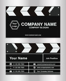 Simple clapperboard theme business name card template for movie director. A simple clapperboard theme business name card template for movie director Royalty Free Stock Photos