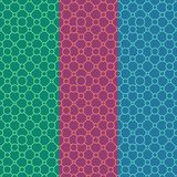 Simple classic geometric ornament with lines and circles. stock illustration