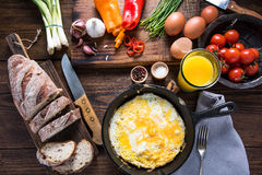 Simple and classic helthy breakfast Royalty Free Stock Photos