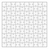 Simple Classic puzzle with symmetrical elements, 10x10 pieces. Easy to remove separate pieces Stock Photo
