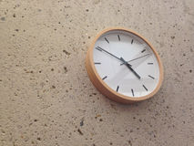 Simple classical analog wall clock Stock Image