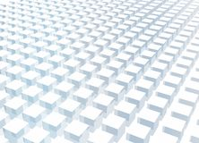 Simple and Clean Block 3d Abstract Background. In Blue Royalty Free Stock Image