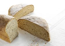 Simple clean cut loaves of homemade bread stock photography