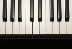 Simple and clean piano keys, one octave, music background Stock Images