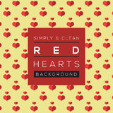 Simple And Clean Red Hearts Background. Royalty Free Stock Images