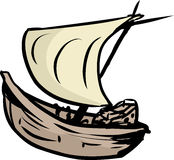 Simple Clipper Ship Doodle Stock Photography