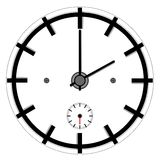 Simple clock Royalty Free Stock Image
