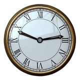 Simple Clock Roman Numeral Royalty Free Stock Photos