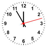 Simple clock Stock Photography