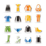 Simple Clothing and Dress Icons Royalty Free Stock Image