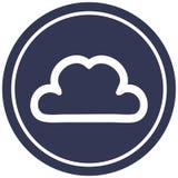 Simple cloud circular icon. A creative illustrated simple cloud circular icon image stock illustration