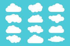 Simple cloud collection. Set of different clouds. Icons and logo cloud set. Royalty Free Stock Images