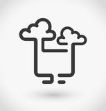 Simple cloud service icon on white background. Simple cloud service vector. EPS10. Stock Photo