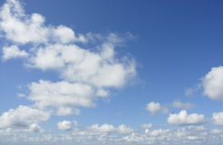 Simple cloudscape background photograph. Stock Photo